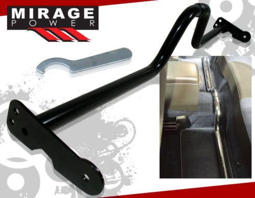 Adjustble Strut Rear Lower Cross Floor Bar Brace Black Honda Civic Crx Del Sol