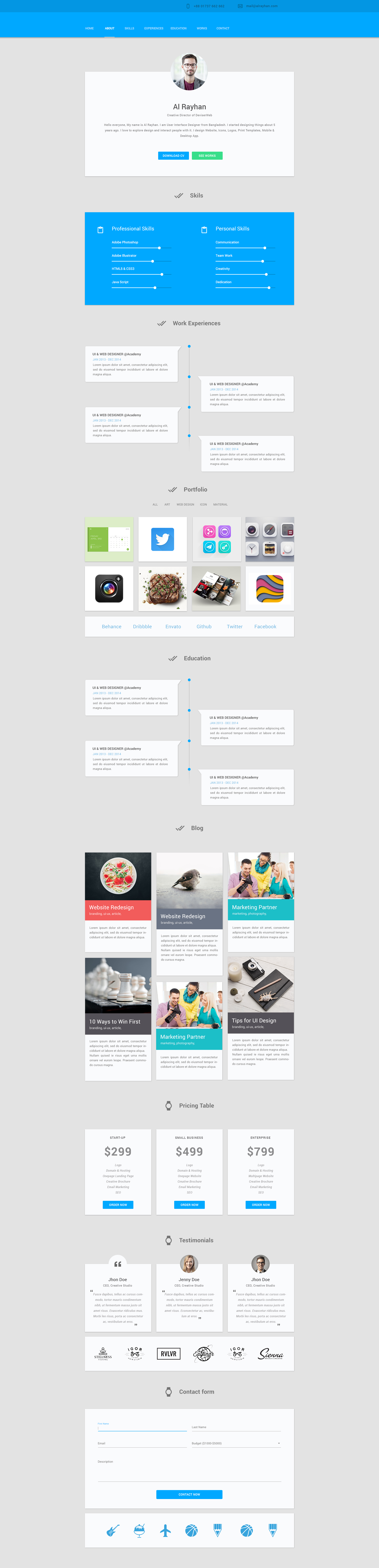 Material Design Personal Cv Jpg By Al Rayhan Material Design Design Web Design