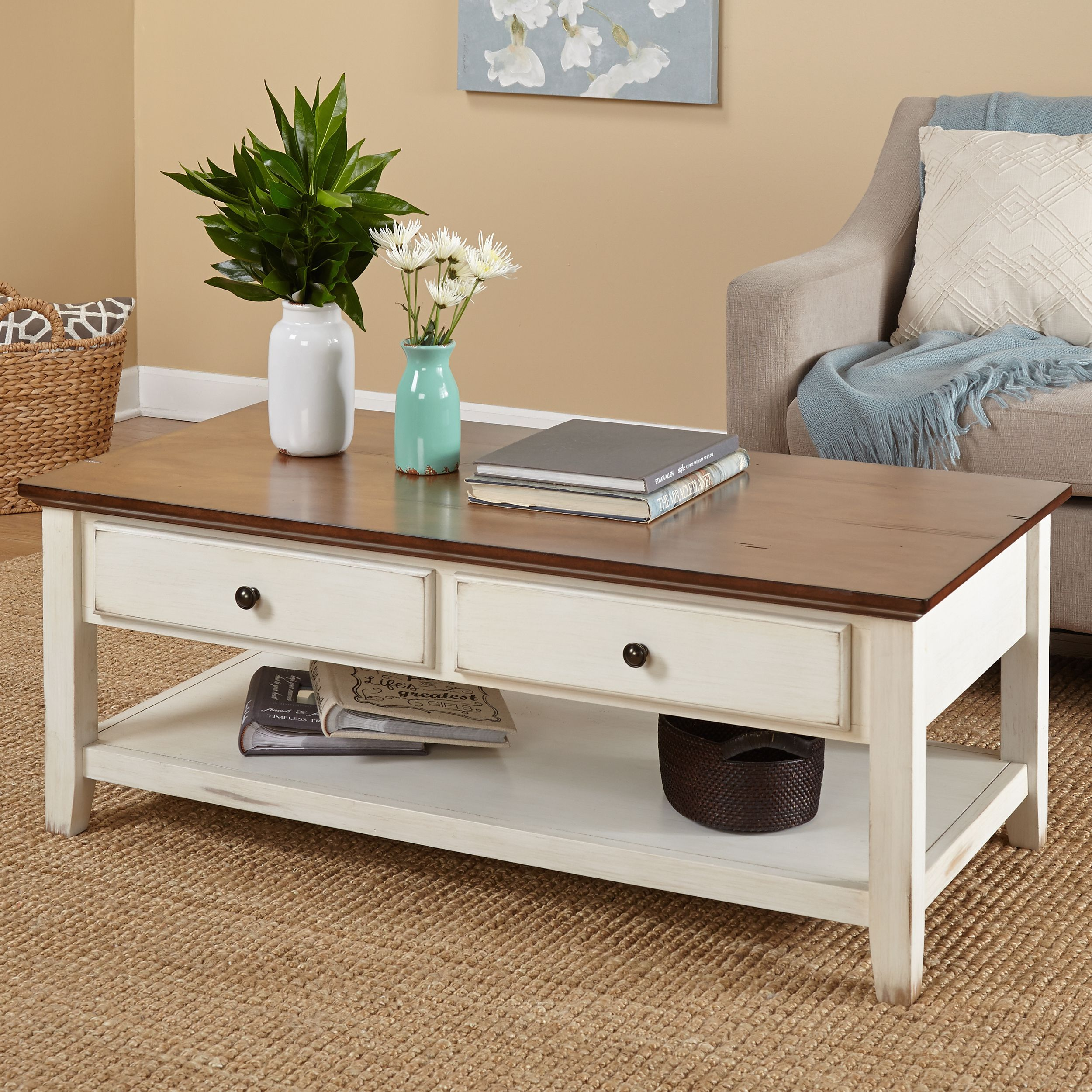 Simple Living Charleston Coffee Table Beige Off White