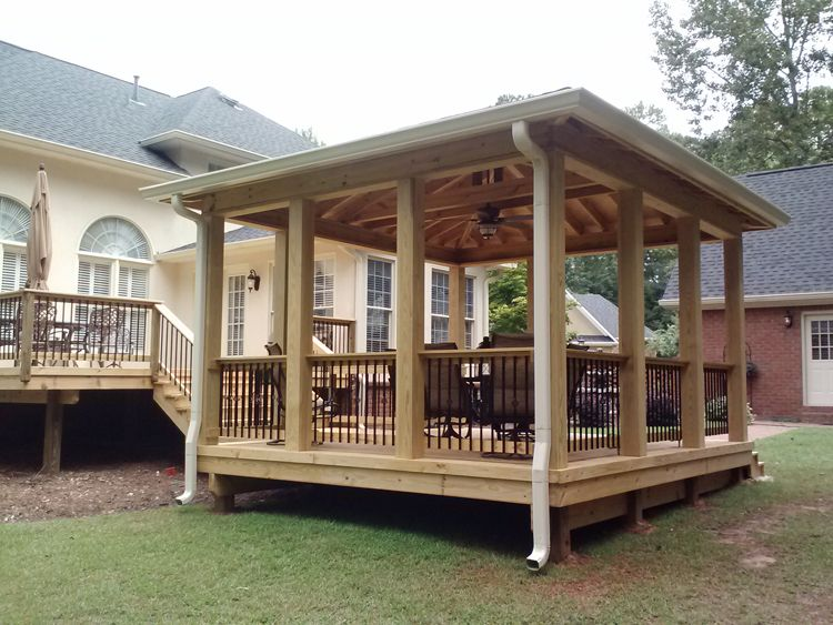 Open porch hip roof barrington hall macon ga lr decks for Detached screened porch