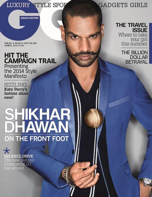 Shikhar Dhawan Gq Cover Indian Celebrities Gq Mens Fashion Magazine Shikhar Dhawan