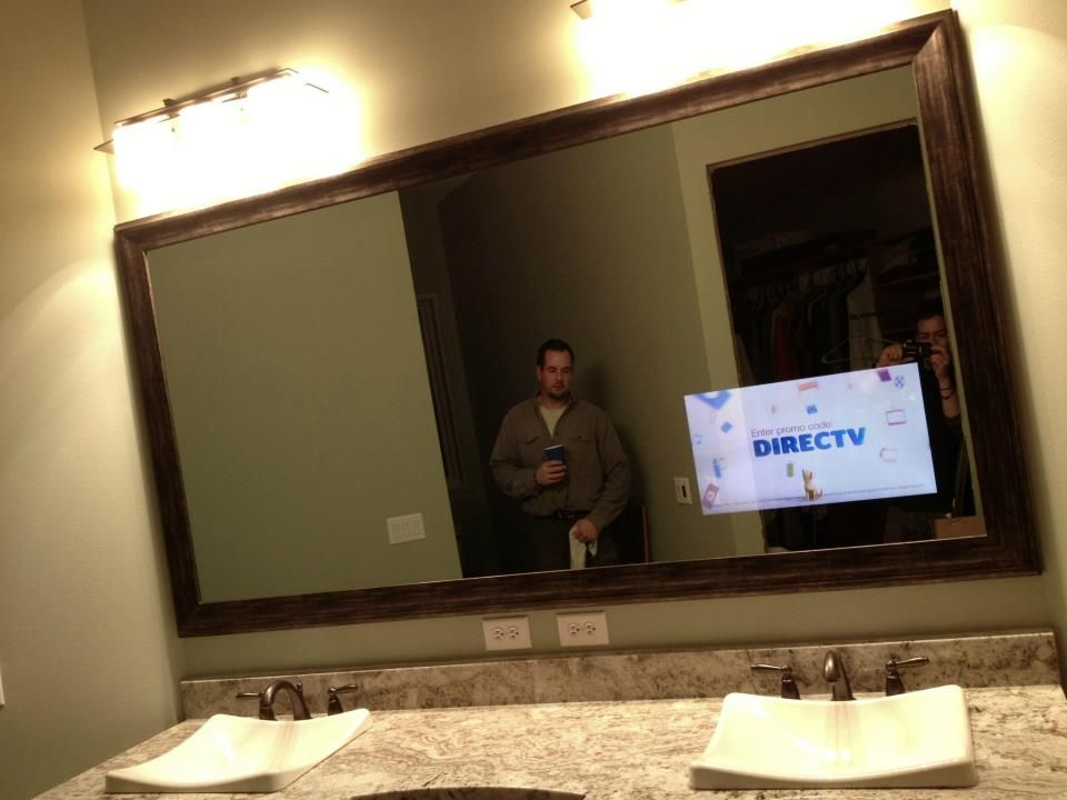 Diy Bathroom Vanity Tv In Bathroom Bathroom Mirrors Diy