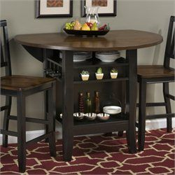 Coaster Hyde Counter Height Square Dining Table With Storage Base In