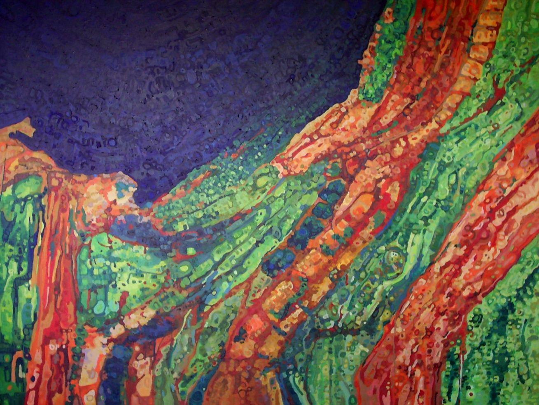 Topografía abstracta I  Acrílico