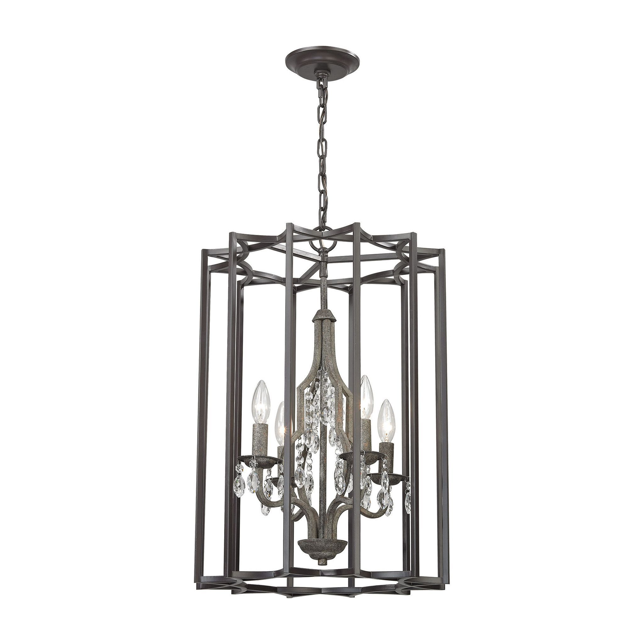 ELK Lighting 32151/4 Belgique Collection Oil Rubbed Bronze,Malted Rust Finish