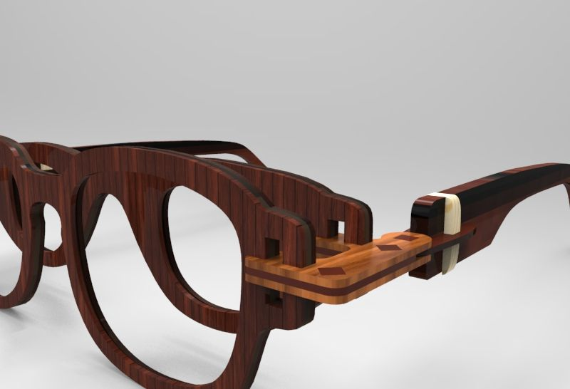 3D printed glasses for low vision people. Assemble glasses frame ...