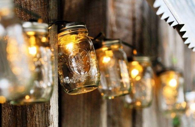 Candele Da Giardino Fai Da Te : Barattoli con lampadine natalizie garden idee