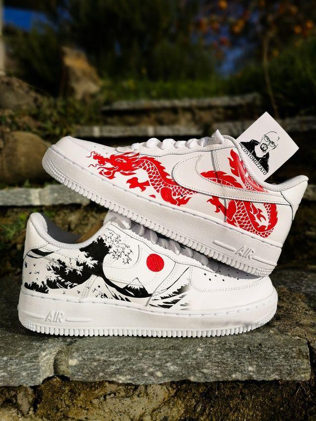 custom nike air force 1 dragon