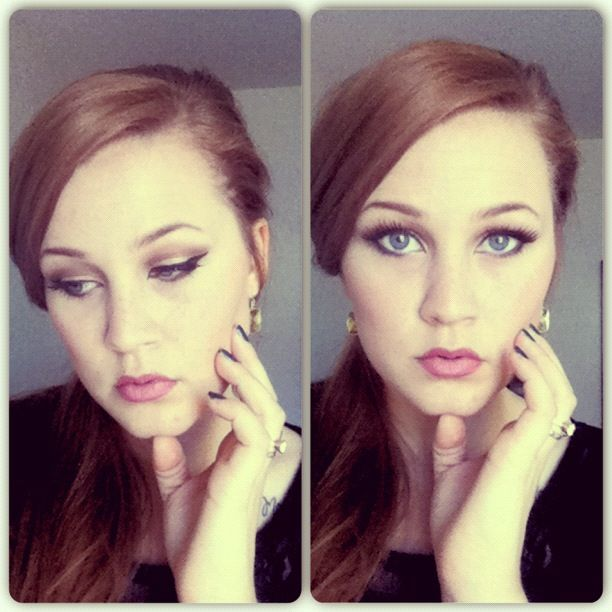 Recreation of Adele makeup