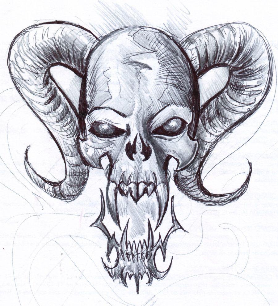 Gothic Skull Drawings | skull 5 fast sketch by penerari ...