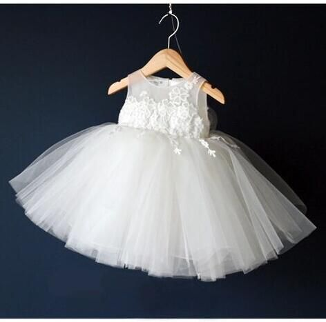 36d292374cc6 Click to Buy    Kids Frock Designs Baby Girl Pageant Wedding Dresses ...