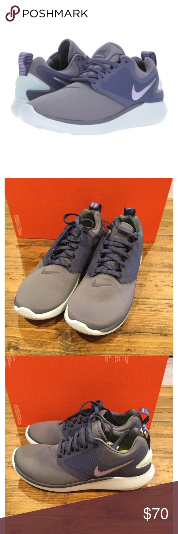 best sneakers a9ade 2ad95 NEW Nike lunarsolo size 7.5 Brand new women s Nike Lunarsolo sneakers size  7.5. Color is called light carbon. Purple grayish blue color. Perfect for  running ...