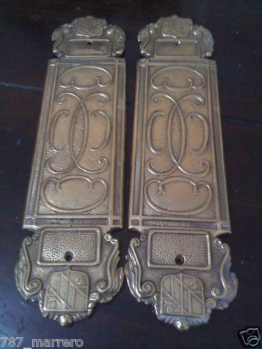 Vintage Virginia Metalcrafters Door Push Plates & Emporio Armani Classic Watch   Doors Vintage metal and Antique door ...