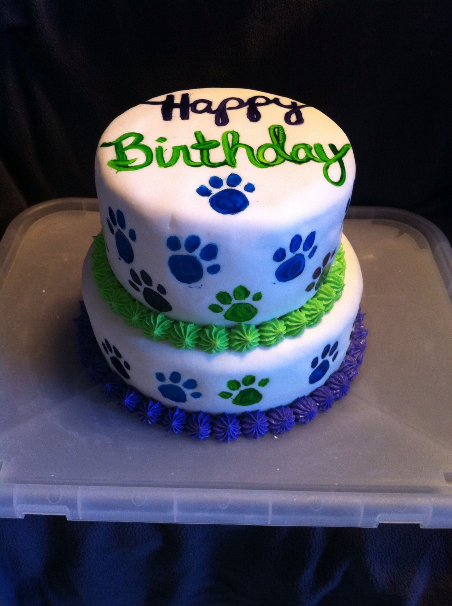 Puppies cake for Brooklyn