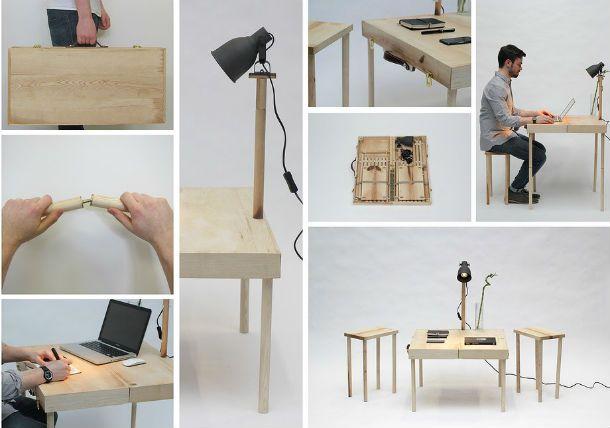 Schreibtisch zum Klappen | Mechanismen | Schreibtisch, Arbeitstisch ...