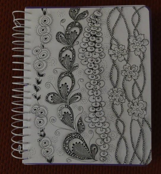 Carole's Creative Corner: Notebook cover - zentangle ...