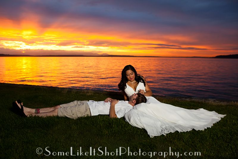 Stacey Chris The Stormy Seattle Sunset At Alki Beach