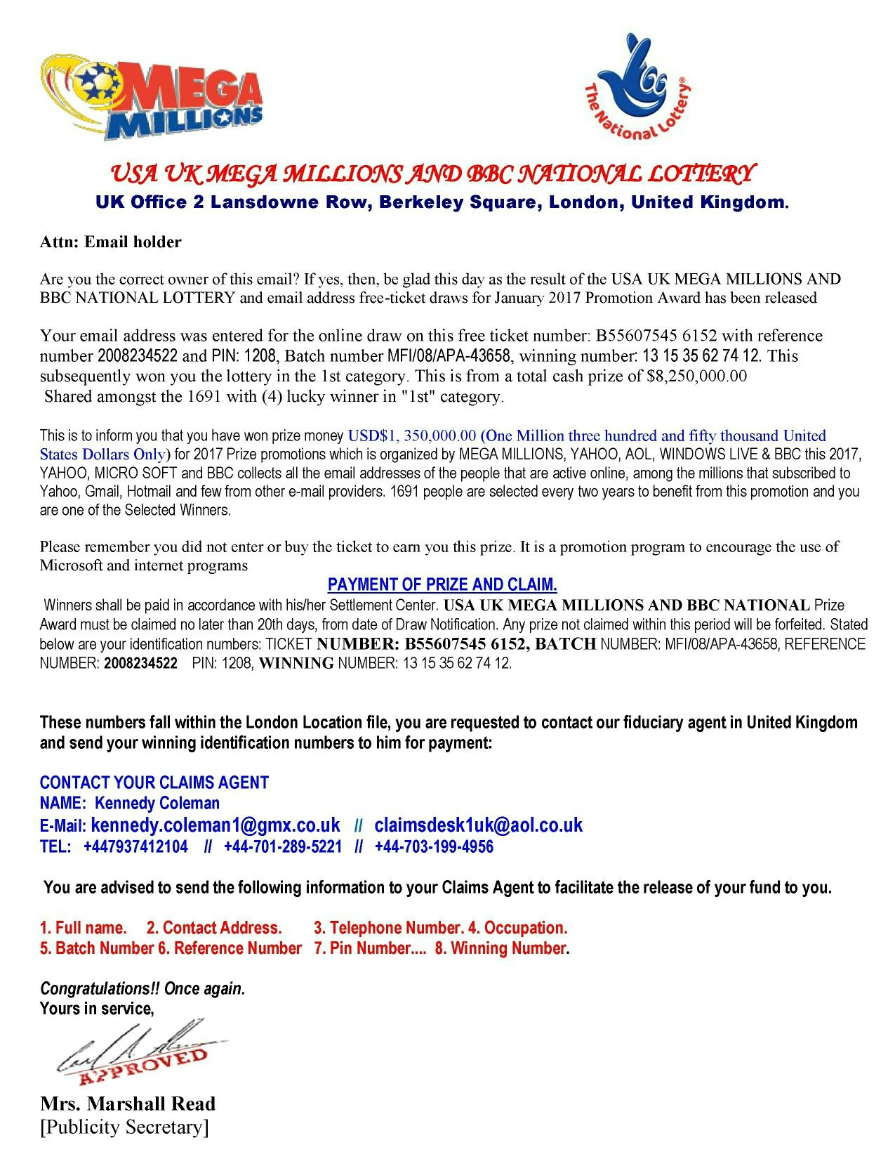 New lotto note | LOTTERY | Notes