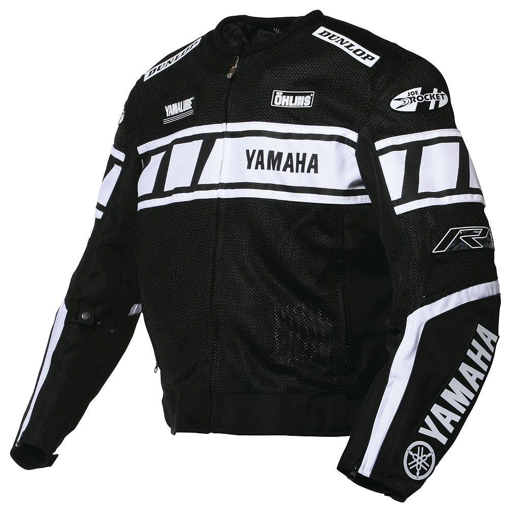 Black Yamaha Joe_Rocket Dunlop Pure Leather_Jacket