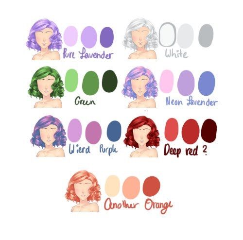 More Hair Color References How To Draw Hair Art Tutorials Hair Reference