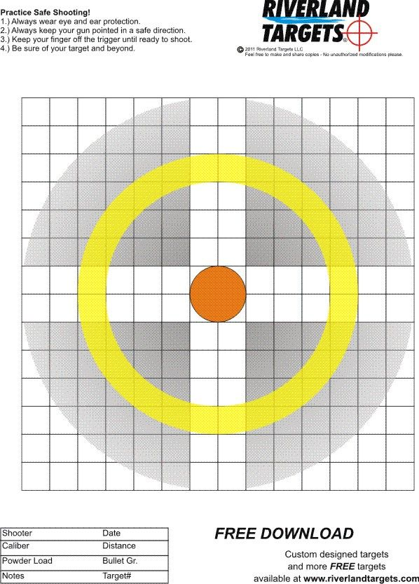 All of our miscellaneous shooting targets are sized to print