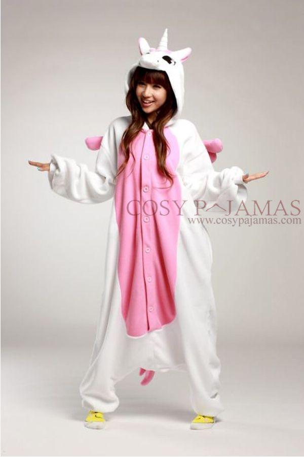 24f3f210a pink unicorn animal pajama for girls.