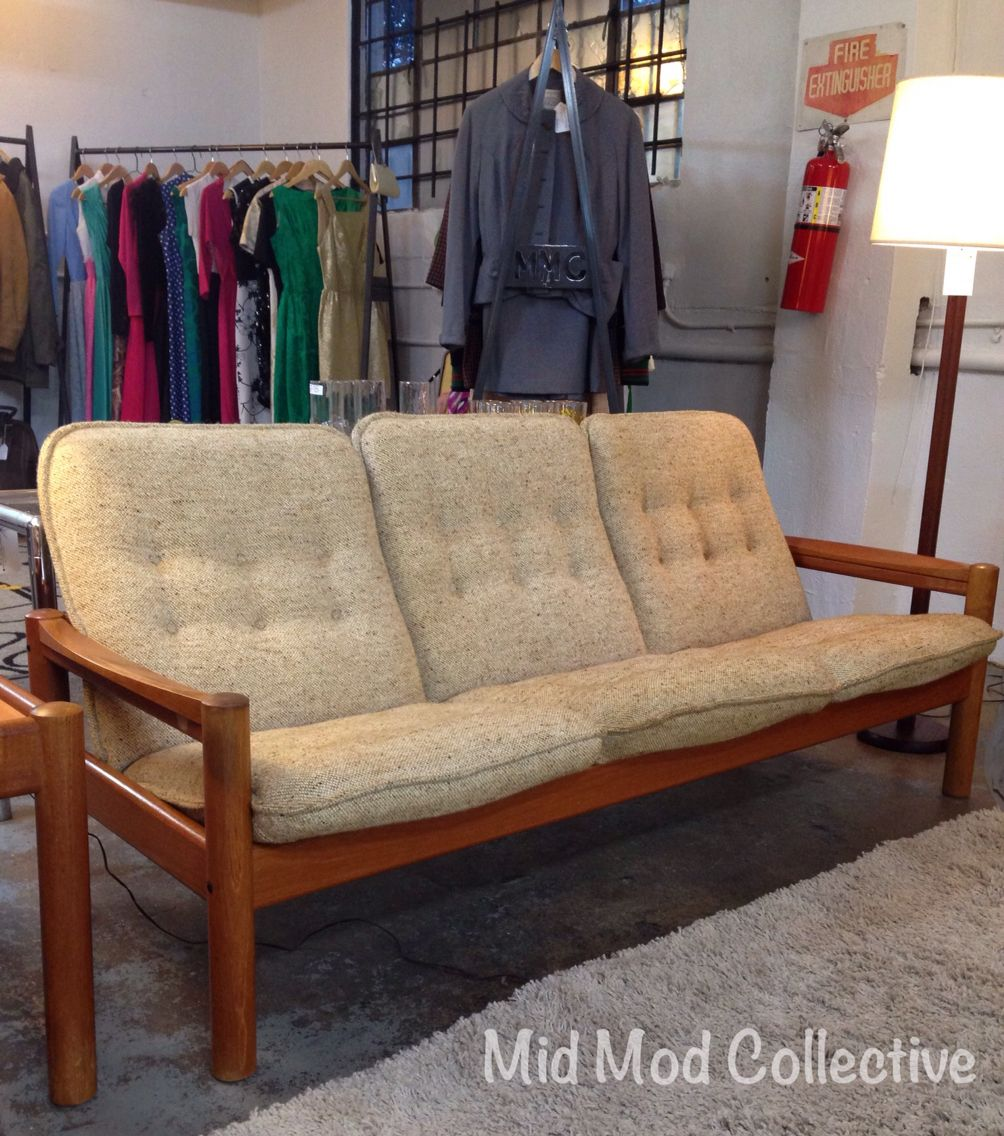 Danish Modern Teak Sofa By Domino Mobler. Also Available, Matching End Table,  Chair