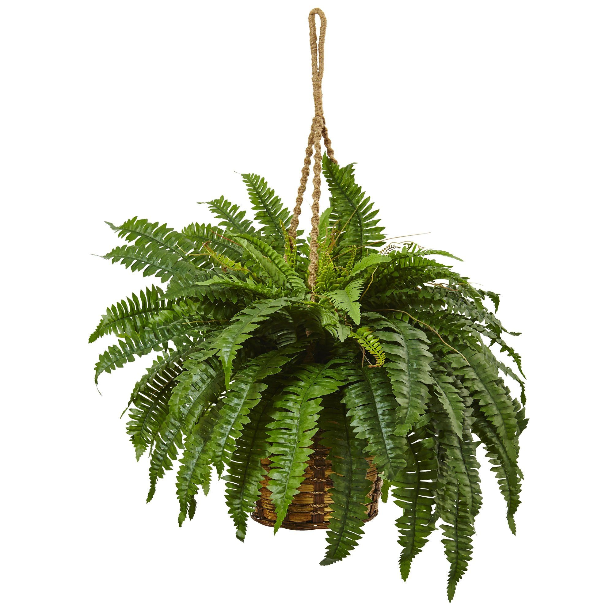 Artificial Boston Fern Hanging Basket