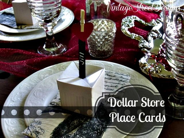 valentine place setting with dollar store crafts