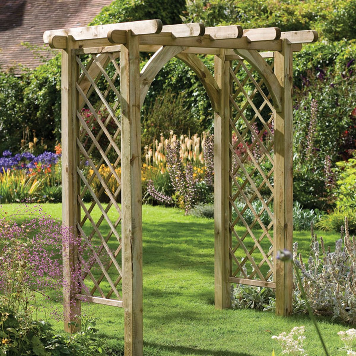 Forest Ultima Garden Pergola Arch With Integrated Trellis, Forest Ultima Garden  Pergola Arch With Inte, Forest Ultima Garden Pergola Arch With Inte