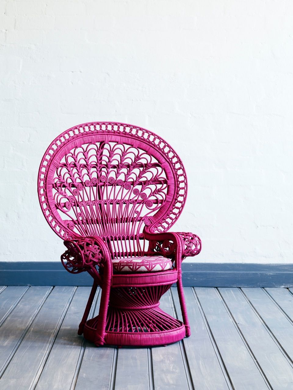 Pink Wicker Peacock Chair Fuchsia By The Family Love Tree