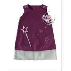 patron robe fille 1 an 2 ans 3 ans avec tissu bouton et. Black Bedroom Furniture Sets. Home Design Ideas