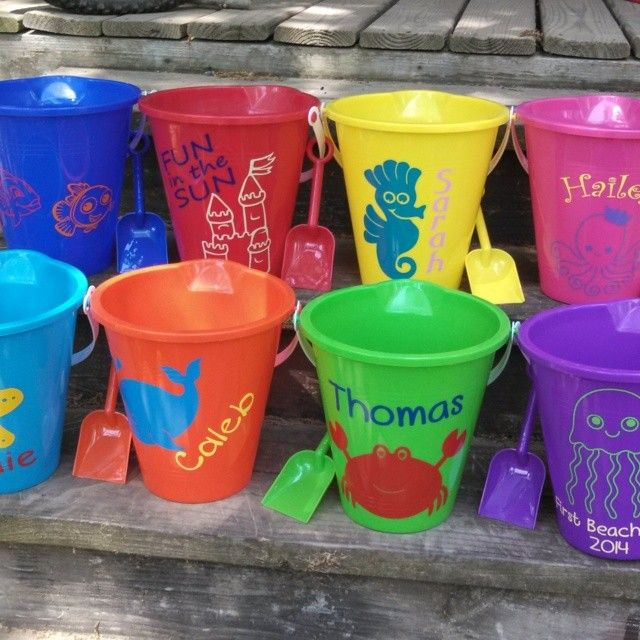 Ideas for your own personalized sand pail!