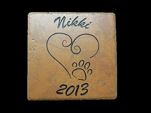 Sandblast Engraved Tile Pet Memorial Headstone Grave Marker Dog Cat -- Additional details @