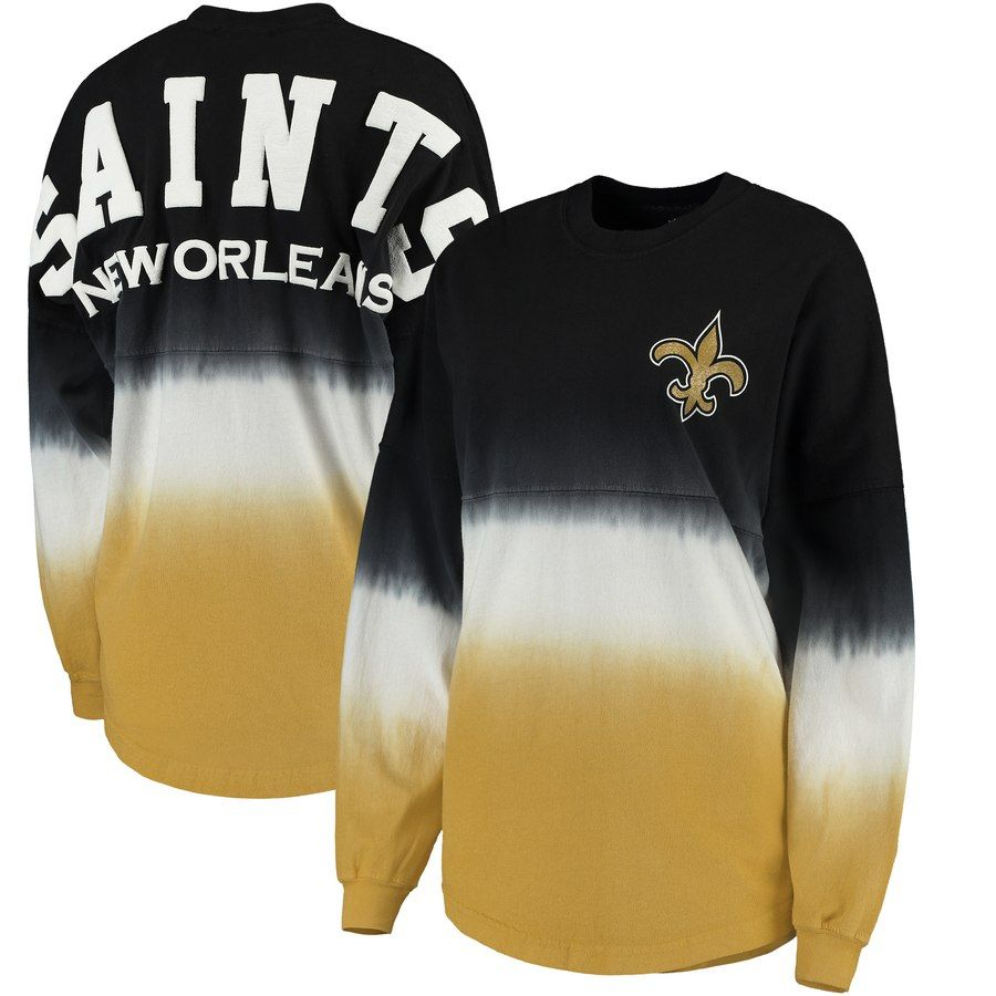 Women s Pro Line by Fanatics Branded Black Gold New Orleans Saints Spirit  Jersey Long Sleeve 7ef439202