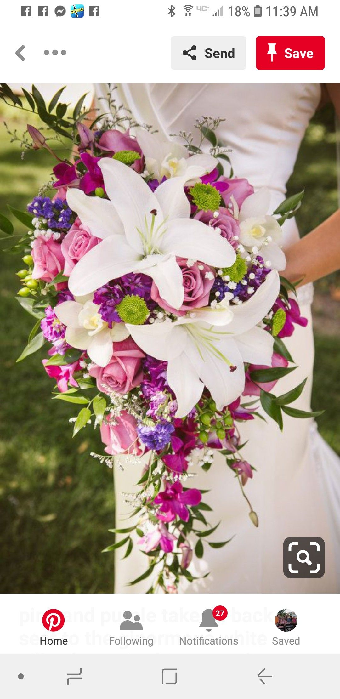Pin By Janice Valerio On Wedding Bouquets Cascading Wedding
