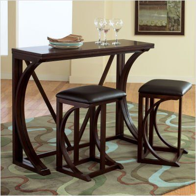 Brown Tan Black Pub Sets For Small Spaces   DINING TABLES FOR SMALL SPACES. DINING  TABLES FOR   ASHLEY CONSOLE .
