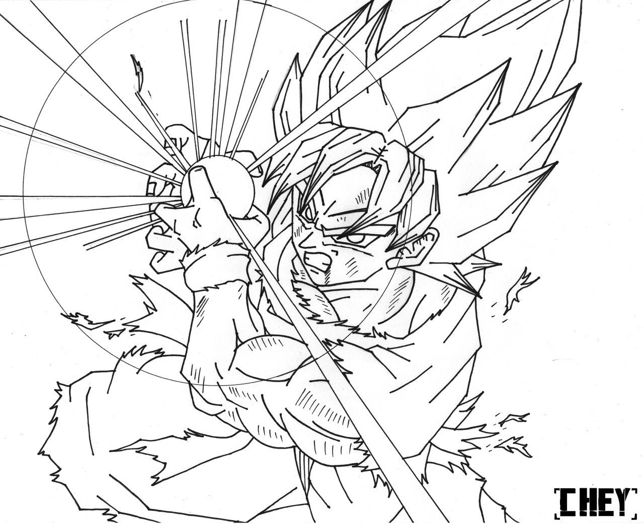 950 Top Dragon Ball Z Coloring Pages Goku Kamehameha Download Free Images