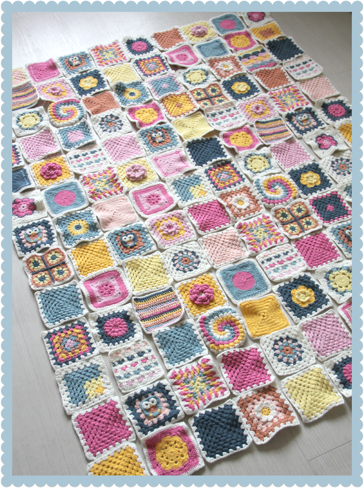A Couple Of Weeks Ago I Started Assembling My Granny Square Blanket