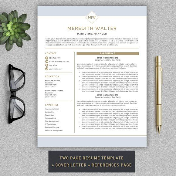 this resume template will help you get noticed  this template is also fully customizable