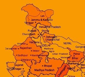 Nice and detailed map of India for Tourist Places of at www ... Tourist Map Of Northern India on golden triangle india map, north india map, northern plain india map, india travel map,