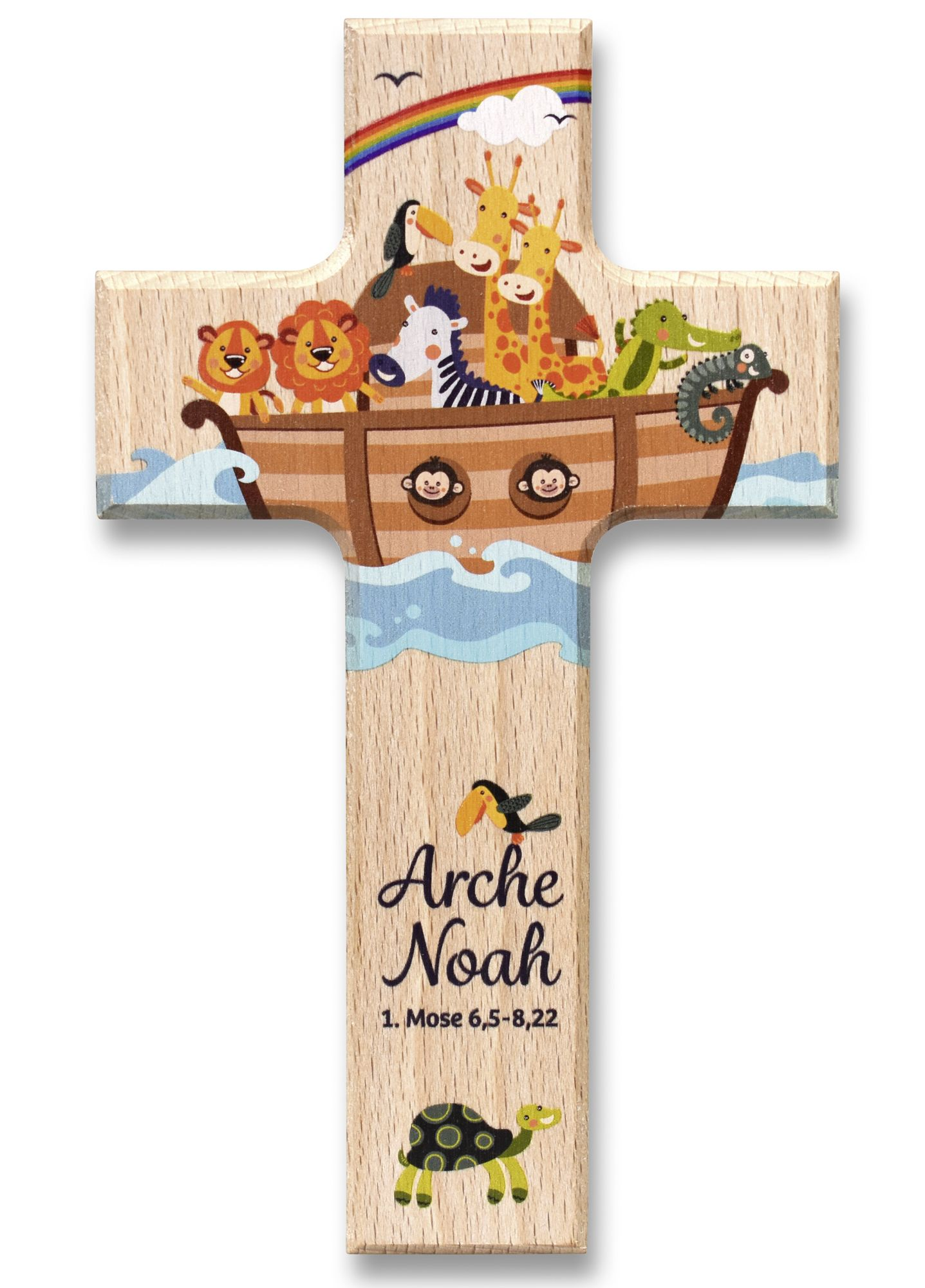 "holzkreuz ""arche noah""  geschenk taufe arche noah zur taufe"