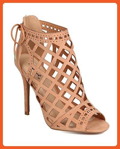 96cc82d2e0d Qupid FH89 Women Faux Suede Peep Toe Cut Out Back Tie Stiletto Bootie -  Blush (Size  9.0) - Boots for women ( Amazon Partner-Link)