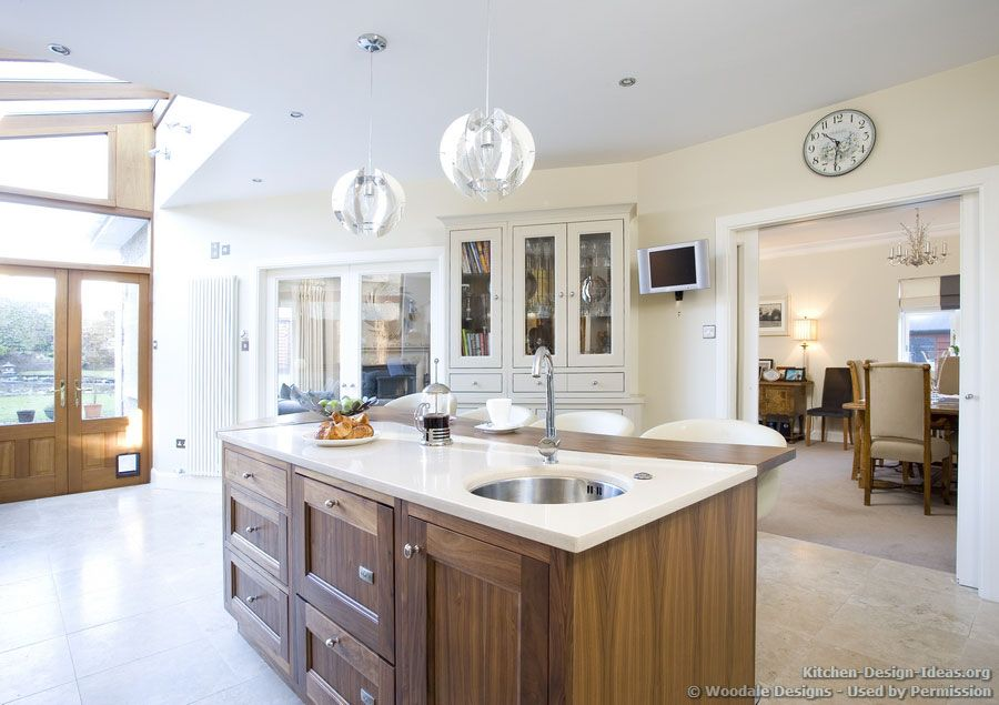Marvelous #Kitchen Idea Of The Day: A Beautiful Walnut Island With A Prep Sink And