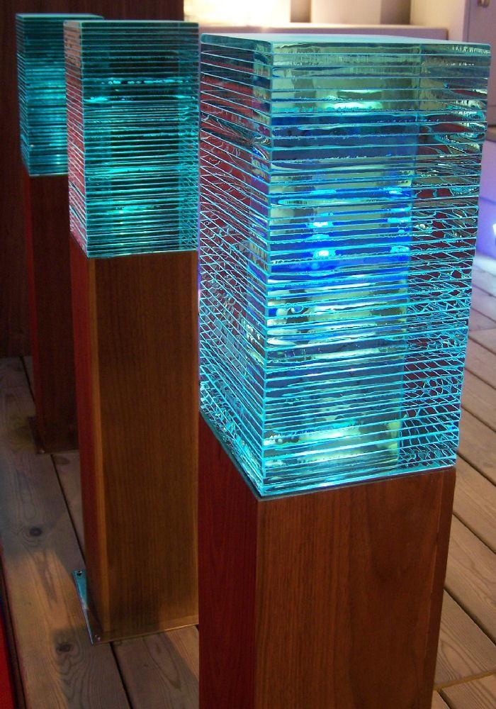 Grande led borne lumineuse en bois | Lights