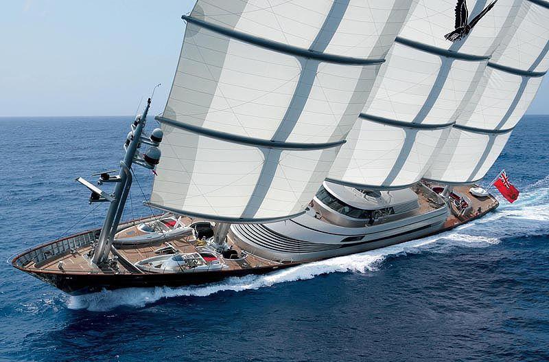 Perini Navi 289 Clipper Yacht Maltese Falcon Sailing Yacht Luxury Sailing Yachts Maltese Falcon Yacht