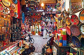 Moroccan markets were amazing. I bought a Moroccan rug-the colors and spices of the market were amazing.