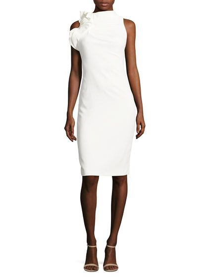 Ruffled Cut Out Sheath Dress by Badgley Mischka Couture at Gilt