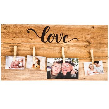 Hobby lobby love memo board wood wall decor with clips