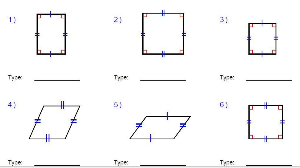 Quadrilaterals Google Search Quadrilaterals Quadrilaterals Worksheet Worksheets